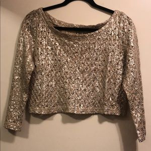 Guess gold crop sweater
